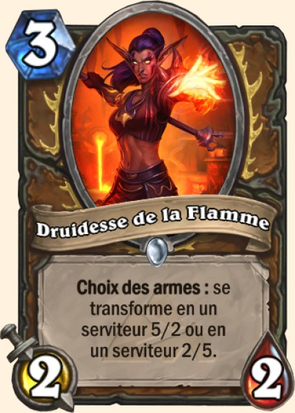 Druidesse de la flamme - Carte Mont Rochenoire Hearthstone