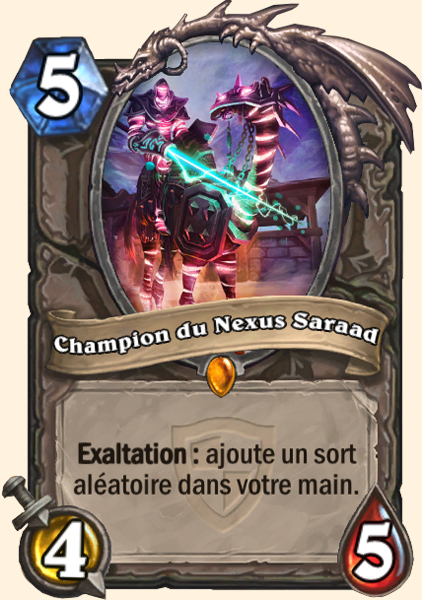 Champion du Nexus Saraad carte Hearthstone
