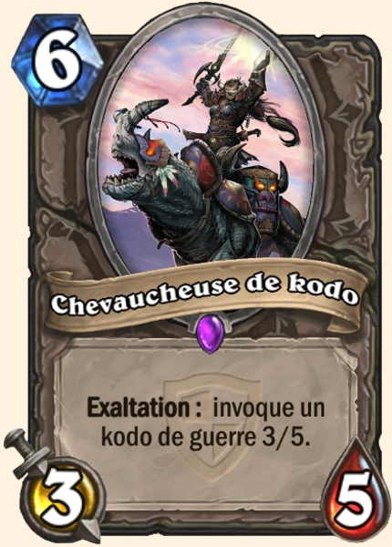 Chevaucheuse de kodo carte Hearthstone