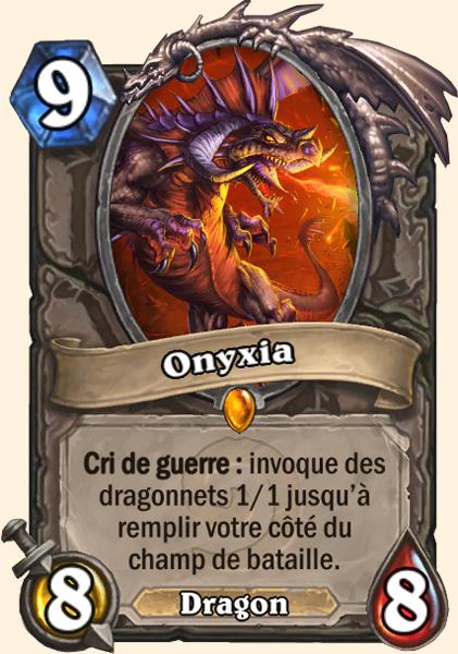 Onyxia carte Hearthstone