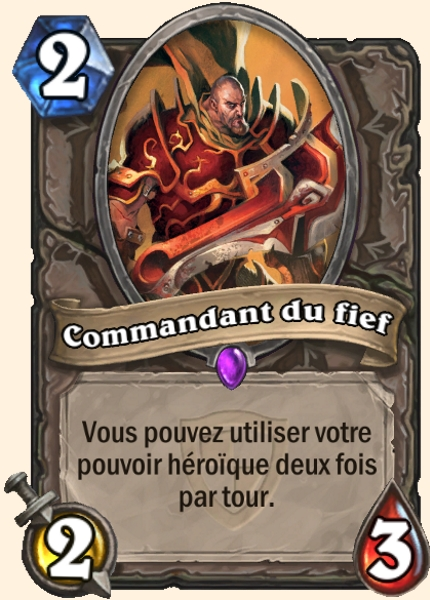 Commandant du fief carte Hearthstone