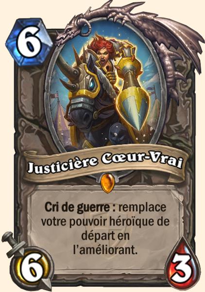 Justicière Coeur-Vrai carte Hearthstone