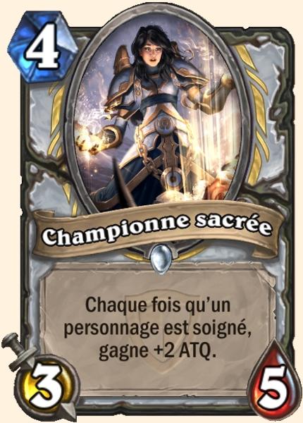 Championne sacrée carte Hearthstone
