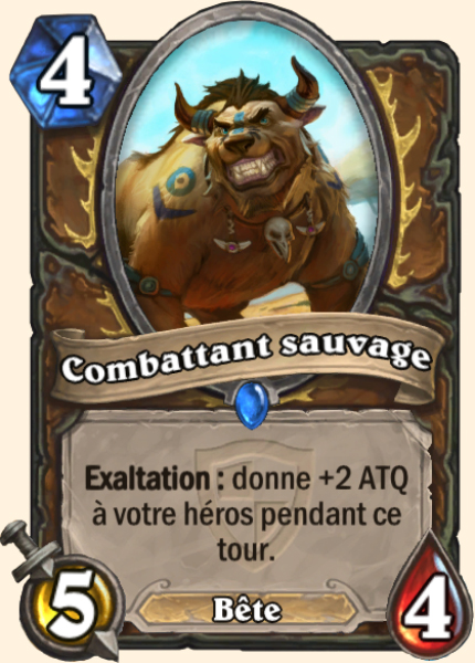 Combattant sauvage carte Hearthstone
