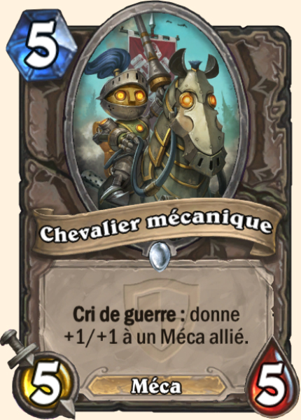 Chevalier mécanique carte Hearthstone