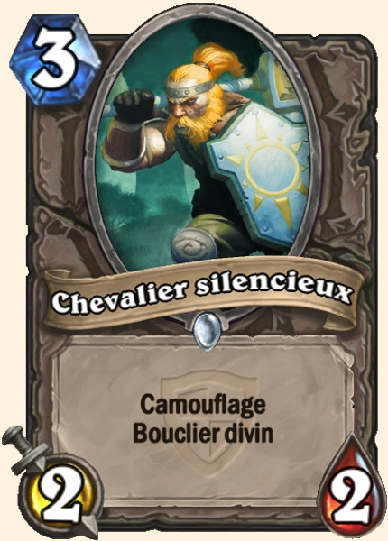 Chevalier silencieux carte Hearthstone