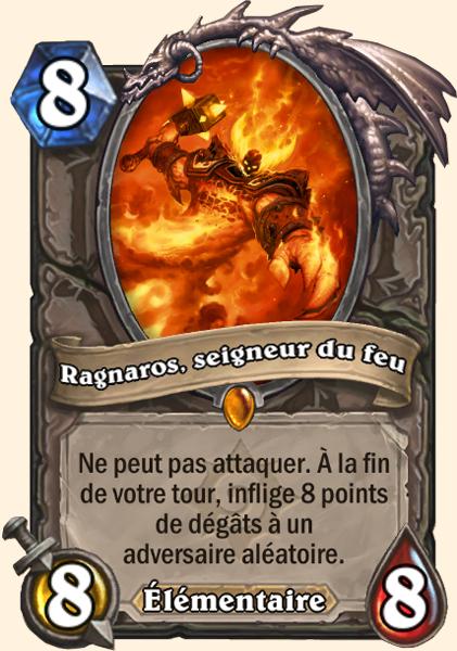Ragnaros, seigneur du feu carte Hearthstone