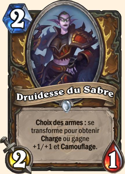 Druidesse du Sabre carte Hearthstone