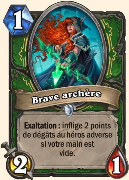 Brave archère carte Hearthstone