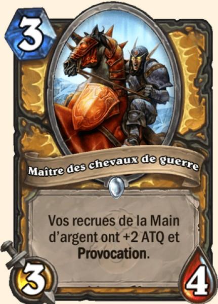 Maître des chevaux de guerre carte Hearthstone