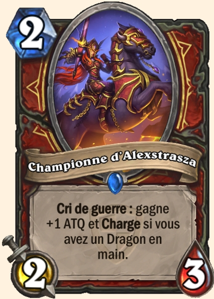 Championne d'Alexstrasza carte Hearthstone