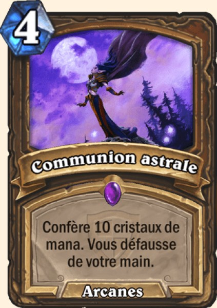 Communion astrale carte Hearthstone
