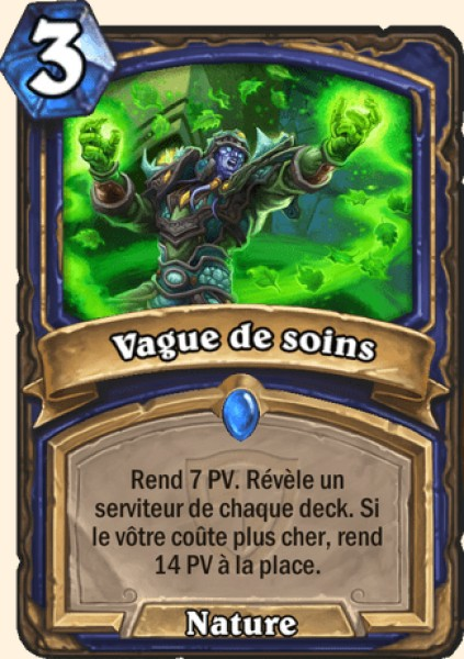 Vague de soins carte Hearthstone