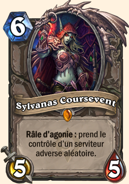 Sylvanas Coursevent carte Hearthstone