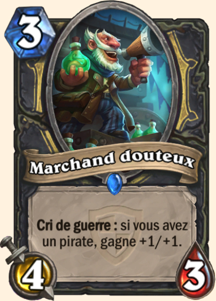 Marchand douteux carte Hearthstone