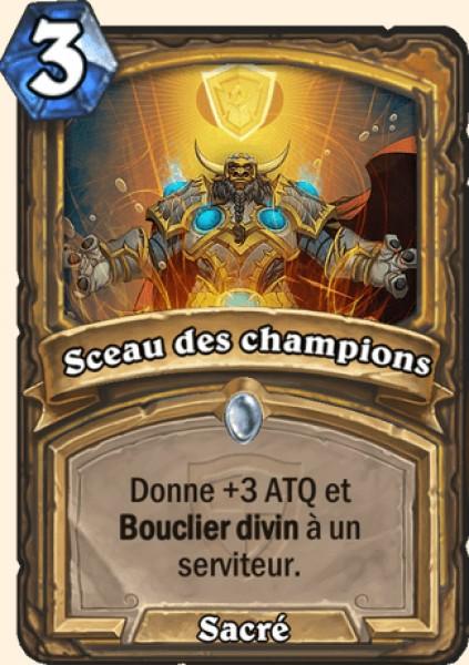 Sceau des champions carte Hearthstone