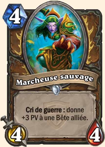 Marcheuse sauvage carte Hearthstone