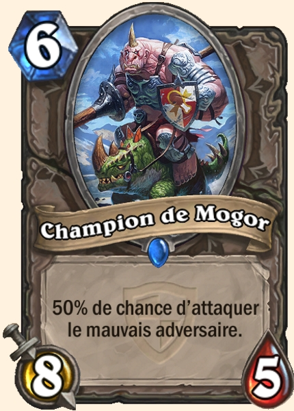 Champion de Mogor carte Hearthstone