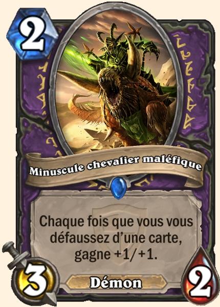 Minuscule chevalier maléfique carte Hearthstone