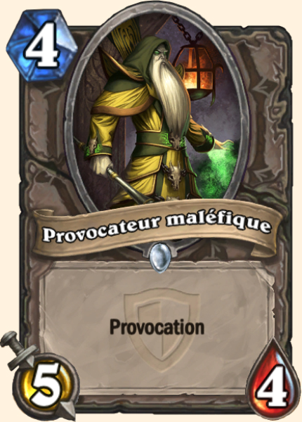 Provocateur maléfique carte Hearthstone