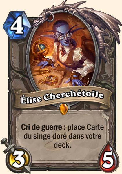 Élise Cherchétoile carte Hearthstone