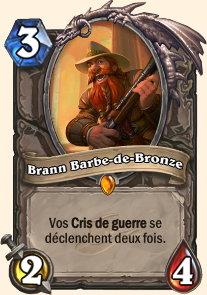Brann Barbe-de-bronze - Carte  Hearthstone