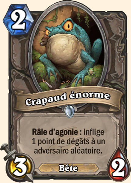 Crapaud énorme - Carte Ligue Explorateurs Hearthstone