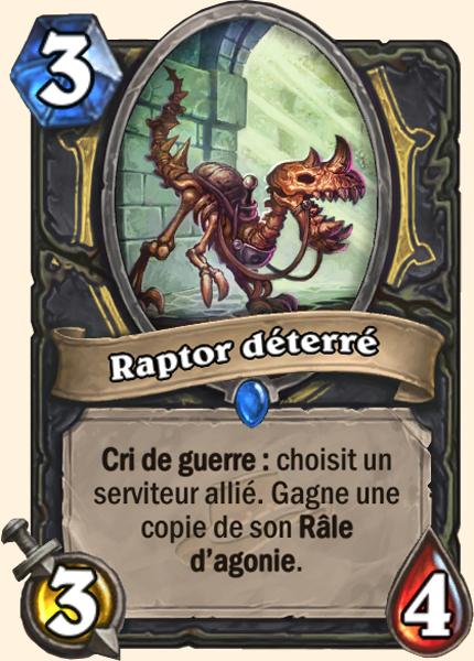 Raptor déterré carte Hearthstone