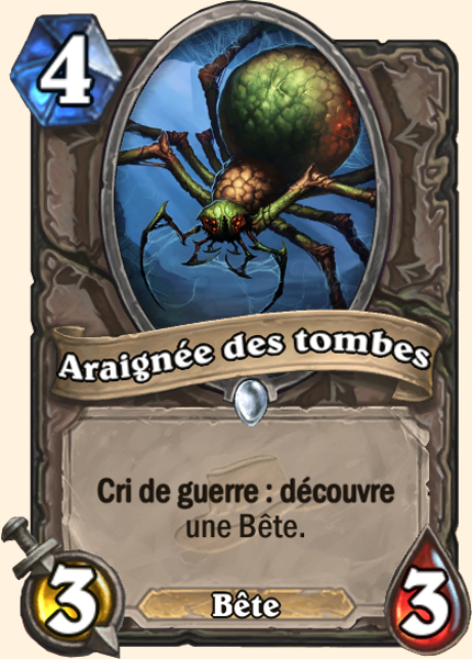 Araignée des tombes - Carte Ligue Explorateurs Hearthstone