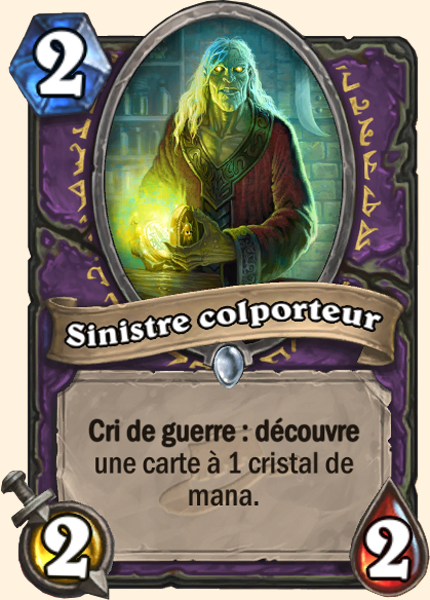Sinistre colporteur - Carte Ligue des explorateurs Hearthstone