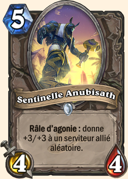 Sentinelle Anubisath - Carte Ligue des explorateurs Hearthstone