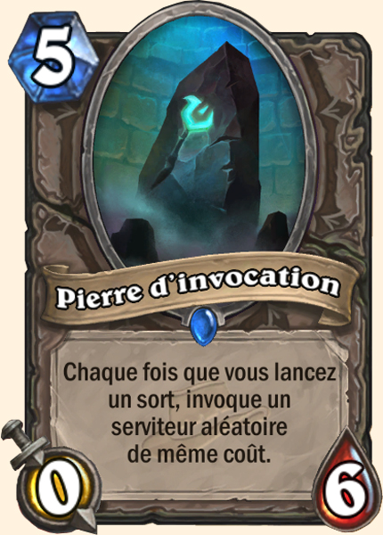 Pierre d'invocation carte Hearthstone