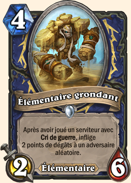Élémentaire grondant - Carte Ligue des explorateurs Hearthstone