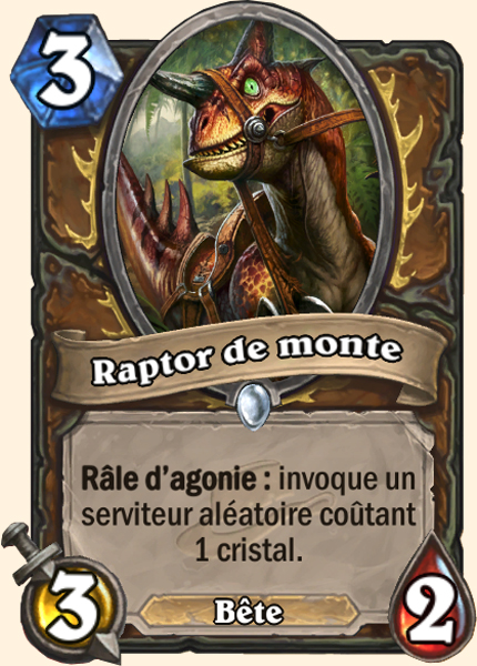 Raptor de monte - Carte Ligue des explorateurs Hearthstone
