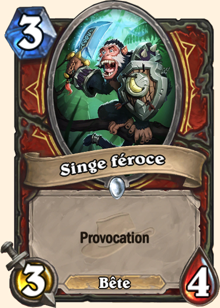 Singe féroce - Carte Ligue des explorateurs Hearthstone
