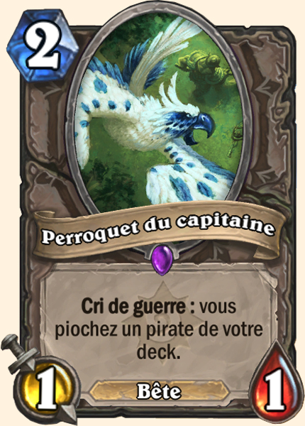 Perroquet du capitaine carte Hearthstone
