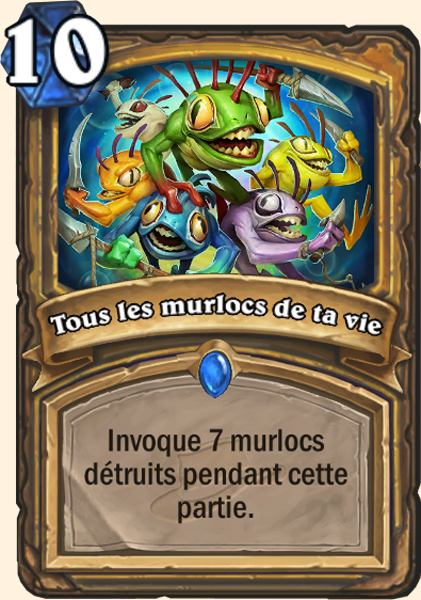 Tous les murlocs de ta vie - Carte Ligue Explorateurs Hearthstone