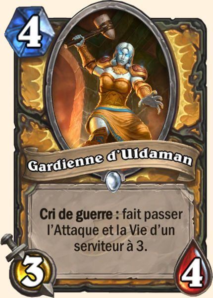 Gardienne d'Uldaman - Carte Ligue des explorateurs Hearthstone