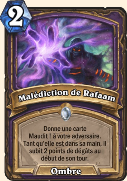 Malédiction de Rafaam carte Hearthstone