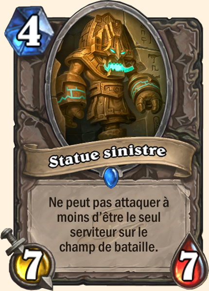 Statue sinistre carte Hearthstone