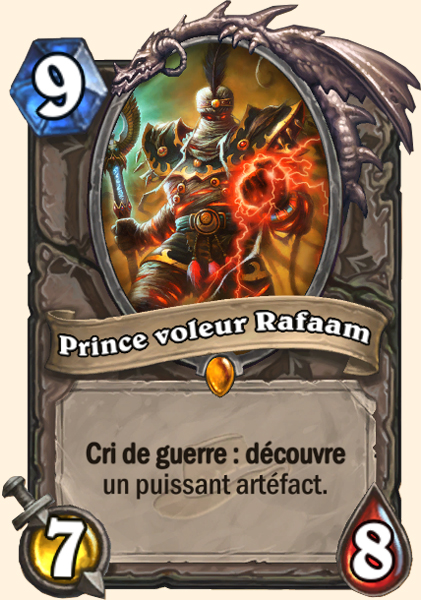 Prince voleur Rafaam carte Hearthstone