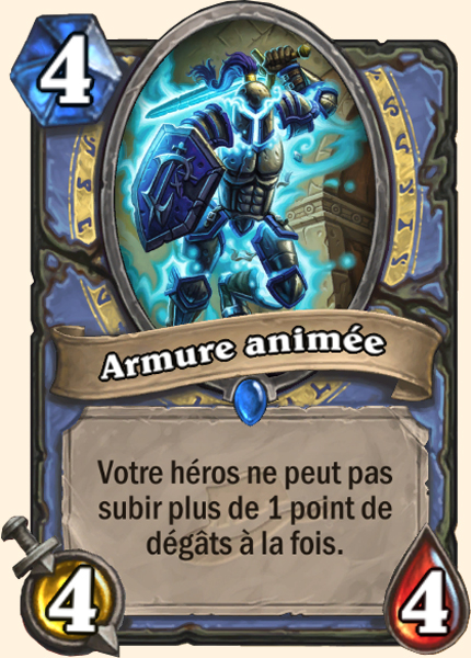 Armure animée carte Hearthstone