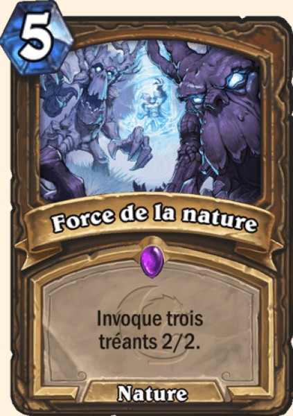 Force de la nature carte Hearthstone