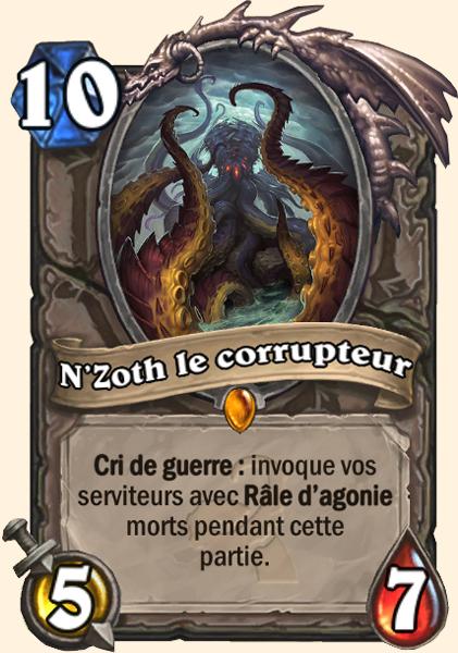 N'Zoth le corrupteur carte Hearthstone