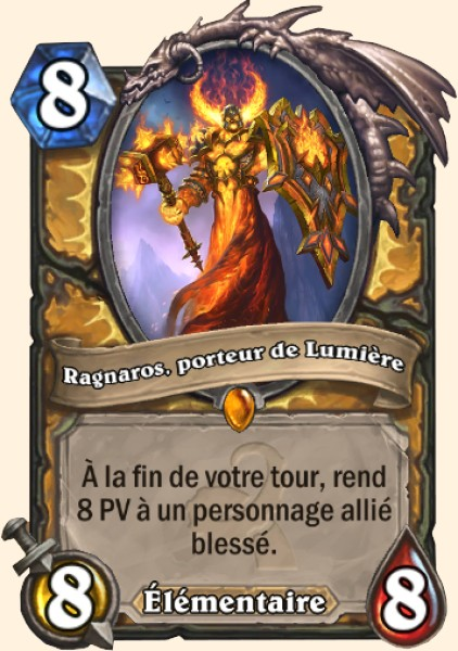 Ragnaros Lightlord carte Hearthstone