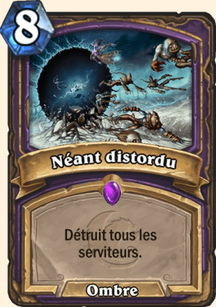 Néant distordu carte Hearthstone