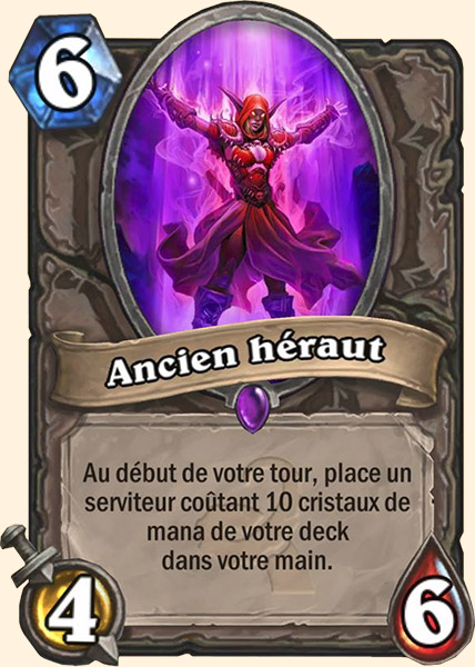Ancien héraut carte Hearthstone