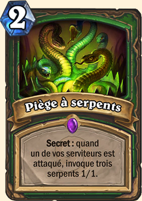 Piège à serpents carte Hearthstone