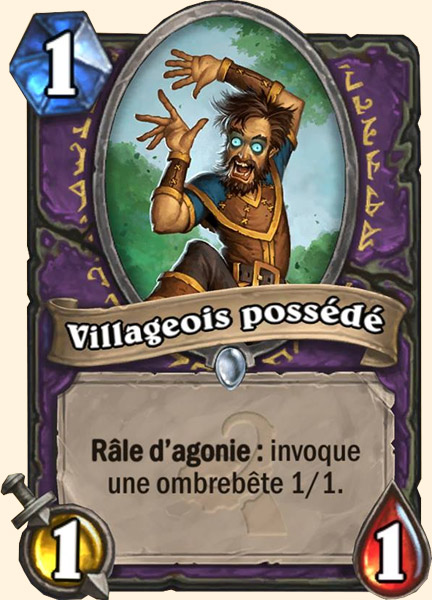 Villageois possédé carte Hearthstone