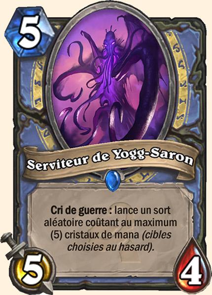 Serviteur de Yogg-Saron carte Hearthstone